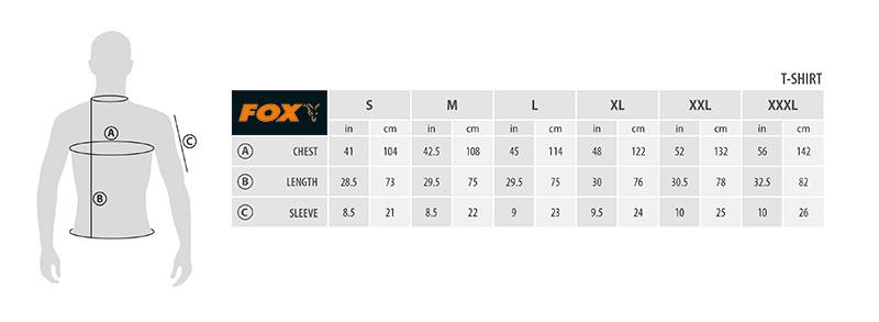 Fox Brushed T-Shirt Black Orange XXL Angelsport Bekleidung
